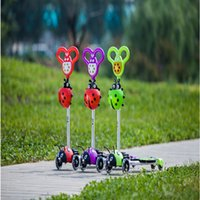Wholesale frog kick scooter New Wheels Foldable Child s Kids Bike hoverboard Frog Motion Kick Scooter Children four wheel breaststroke scooter