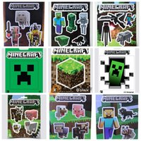 home decal stickers - DHL hot minecraft stickers styles MC poster home decoration creeper cartoon decal steve decorative stickers J030503