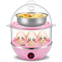 Wholesale New Cooking Machine Electrical Steamed Egg Kitcken Tools Foods Cooker Double layer for Nutrition Good Breakfast