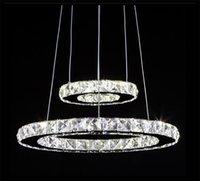 ac pendant stainless - AC v v v V Remote Control Modern LED Crystal Chandeliers lights for home Pendant Lamps decoration Living Room Bedroom Pub Bar