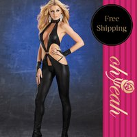Cheap Free Shipping Hot Sale New Arrival Fashion Leather Lingerie Sexy Exotic Apparel One Piece Costumes C80417