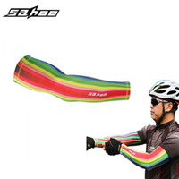 bicycle outfits - 2015 Original Rainbow Bike cycling armwarmers outdoor bicycle cuff sleeve cover uv sun arm sleeves breathable riding outfit Men