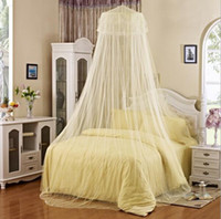 Wholesale Hanging dome ceiling princess lace Mosquito Net Landing enlarge encryption paplace Mosquito bar Bedding Supplies
