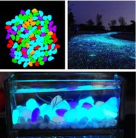 Wholesale 10 Colors Colorfull Glow Stone Solar Luminous Pebbles Stones Glow in the Dark for Aquarium Fish Tank Garden Water Fountain Decorations