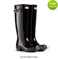 Wholesale Ms glossy rain boots waterproof women wellies boots woman rain boots High boot rainboots