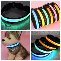 Wholesale 6 Colors LED Light Flashing Dog Collar LED Pet Collar Necklace Cat Safety Collar