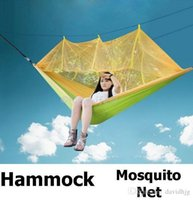Wholesale Mosquito Net Hammock Camping Outdoor Parachute Cloth very soft Portable only g cm cm pc