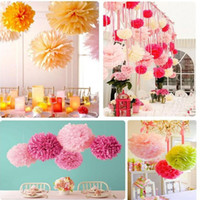 basket ball kids - HOT promotional Tissue Paper Poms Decorative Blooms Flower Balls birthday Wedding decoration kids party supplies Multi Color Options W470