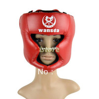 Wholesale New Boxing Helmet Headgear Head Guard Training Helmets Kick head protection face guard Gear Red TK0785