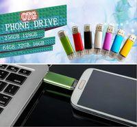 Wholesale 2015 GB GB GB USB Flash Drive OTG Pen For Smart Phones tablet computer random colour external storage micro usb memory stick