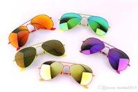 eyeglasses box - Colorful Sunglass Frame Fashion Women Sun Glass Purple Mirror Lens Pilot Style Hollywood Celebrity Eyeglass with Original Box