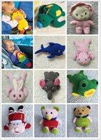 Wholesale Cute Winter Warm Infant Supplies Cartoon Animals Shaped Bottle Handle Scale Thermos Sets Baby Milk Bottle Bag Toddle Bottles Holder B0703