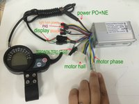electric scooter parts - 24v36v48v250w350w BLDC controller LCD display with throttle electric bike moped MTB scooter parts colored or blue screen