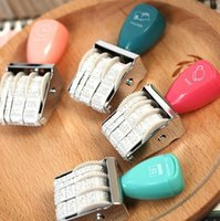 Wholesale DIY Cute kawaii Plastic Date Stamps Wheel Rubber Dater Stamp for Office Supplies Korean Stationery