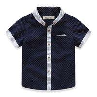 Wholesale Boys Shirts Children Clothes Kids Clothing Summer Short Sleeve T Shirts Child Shirt Fashion Cotton Shirts Kids Tshirt Lovekiss C22082