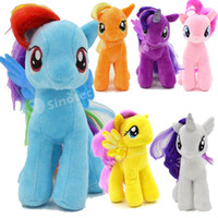 Wholesale My Little Pony Stuffed Animals Anime Plush Toys Dolls Cartoon Ponies Unicorn Cotton Doll Styles cm Toy For Children Kids Factory Direct