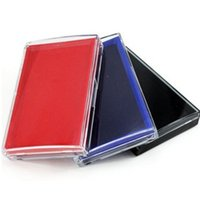 Wholesale Oil base Red blue black one color stamp pad High quality carimbos ink pad for stamp inkpad office material school supplies