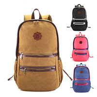 Wholesale Men Women Casual Fashion Canvas Backpack Travel Back Pack Teenager Students School Canvas Bag Girl Boy Simple Daypack Rucksack