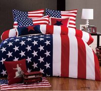 uk flag - Pure Cotton Bedding Sets Twill Eco friend Printing Dyeing Actively Count Yarn UK US Flag Many colors High Density Bed Suit