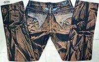 Wholesale Hot High quality rock style gold wings key u s flag robin jeans men brand robins men jeans denim plus size