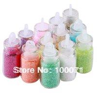 Wholesale 12 Color Nail Glitter Powder Decor Nail Art Powder Dust Bottle Set Nail Tools Hot Sale