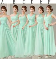 aqua wedding dresses - 2015 turquoise Bridesmaids Dresses empire Pleats Chiffon Long Designer Plus size wedding under Party aqua Dress