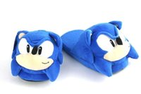Wholesale Cosplay Plush Doll inch Sonic slippers blue heroes Adult Plush Sonic Slipper