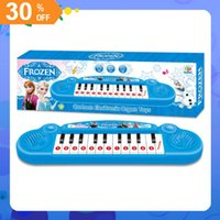 keyboard piano - Musical instruments toy Frozen girl Cartoon electronic organ toy keyboard electronic baby piano with music song Educational toy