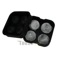 trays - New Arrival Large Sphere Molds Bar Drink Whiskey Big Round Ball Ice Brick Cube Maker Mold Mould Ice Balls Tray