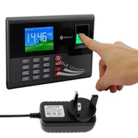 Wholesale Biometric Fingerprint Time Clock Recorder Attendance Employee Digital Machine Electronic Reader UK Plug