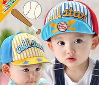 Wholesale 2015 newest spring hat for children south Korea stripe STAR flanging cap Baby hats beautiful children hats