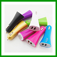 Cheap HOT 2015 USB Dual Port Car Charger Chargers with 3.1A 5v for iPad iphone5 iPhone 5 5S iPod lenovo Samsung galaxy s4 s5 huawei smart phone