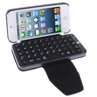 Precio de Caso de cuero del teclado del iphone-Al por mayor de Bluetooth del teléfono móvil del teclado, del teclado del cuero para el iPhone 5 / iPad / iPad 2 / el nuevo iPad / iPad Mini