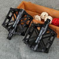 Wholesale car BaseCamp Slip resistant Ultra light MTB Cycling Bike Bicycle Aluminum Alloy Pedals Black new good parts pedals