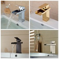 Centerset bathroom basin mixer taps - And Retail Solid Brass Waterfall Spout Bathroom Basin Faucet Hot Cold Mixer Tap Vanity Sink Mixer Tap