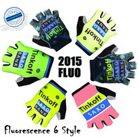 gloves - 2015 latest style tinkoff saxo bank Cycling Gloves Half Finger popular Guantes de ciclismo comfortable and durable Outdoor Sports glove