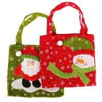 Wholesale Christmas Gifts Bag Santa Claus Candy Bags Christmas Decoration Supplies Snowman And Santa Claus Pattern Cloth Gift Bag Handbag