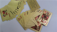 best dollar - Newest GOLD FOIL PLATED PLAYING CARDS US DOLLAR STYLE PLASTIC POKER GOOD PRICE Best quality Free dhl