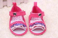 Wholesale New design pairs Fashion summer Girl Baby Sandals Color Toddler Infant Girl soft shoes inner length cm Super qualitty