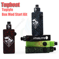 vape mods - New Tugboat Box Mod Kit Tuglyfe Unregulated vapor mods Starter Kit Clone with Dual battery Tugboat vape Mod Aluminum Body RDA Atomizer