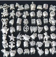 Wholesale Pandora ibetan Silver Nice Design Big Hole Spacer Beads Fit Charm Bracelet Jewelry DIY Metals Loose Beads