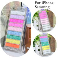 Wholesale For iPhone quot Exclusive Pure Hand Made DIY Luxury Bling colorful Diamond Cell Phone Case For iPhone Cover Look Shiny Real machine mould