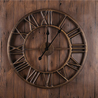 antique metal clock - Classic European Handmade Handicraft Wall Clocks Decor Ring Clocks Metal Material D Effects Antique Style Wall Clocks GZ