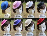 Wholesale 2015 New The unisex hair accessories hat Hen Party Plain Mini Top Hat for DIY Hair Fascinator Headwear size to choose