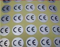 adhesive label maker - 1000pcs Diameter mm ce sticker silver Self adhesive label custom round Pet pvc ppt stickers maker