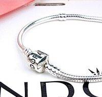 Wholesale Top Fashion MM Snake Chain cm charm Bracelets Bangles European Beads fits Pandora bracelet for Women Silver Snake Chain Gift