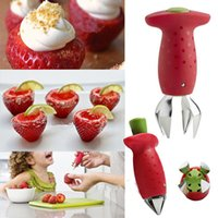 Wholesale Strawberry Stem Leaves Huller Remover Removal Fruit Corer Kitchen Gadgets