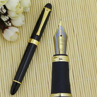Wholesale 2015 New Jinhao X450 Premium Fountain Pen Green Marble Medium Nib Golden Trim Office Pen Christmas Gift LEY