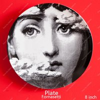 ceramic figurines - 2015 Top Fashion New Europe Figurines Italy Fornasetti Decorative Plates Wall Plate Vintage Art European Fashion plate1A