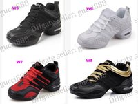 Wholesale Autumn and square dancing shoes breathable mesh modern dance shoes jazz shoes soft bottom shoes for women increased fShoes canvas shoes